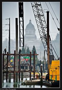 Construction site in Olympia, WA