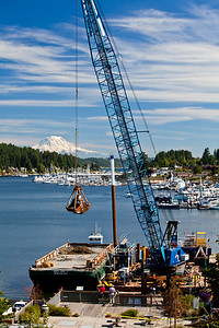 Gig Harbor Outfall Project ~ Mt. Rainier in backround