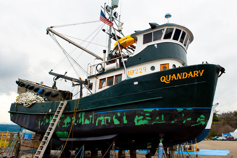 The Quandary, formerly the Dora R in Pt. Townsend, Wa Shipyard for maintenance