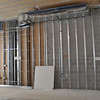 Ductwork and framing on Language Hall's second floor.