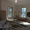 A view of work in the former Room 201 of Language Hall.