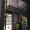 Another view of the staircase in the Language Hall addition.