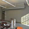 The second-floor west classroom just prior to final finishes.