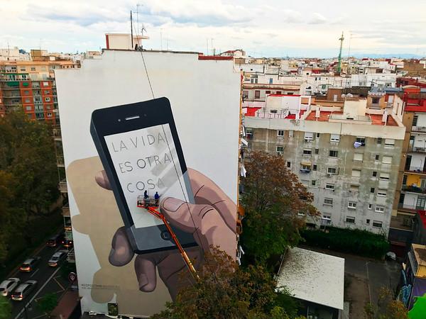 Mural gigante de Greenpeace por el Día de las Ciudades