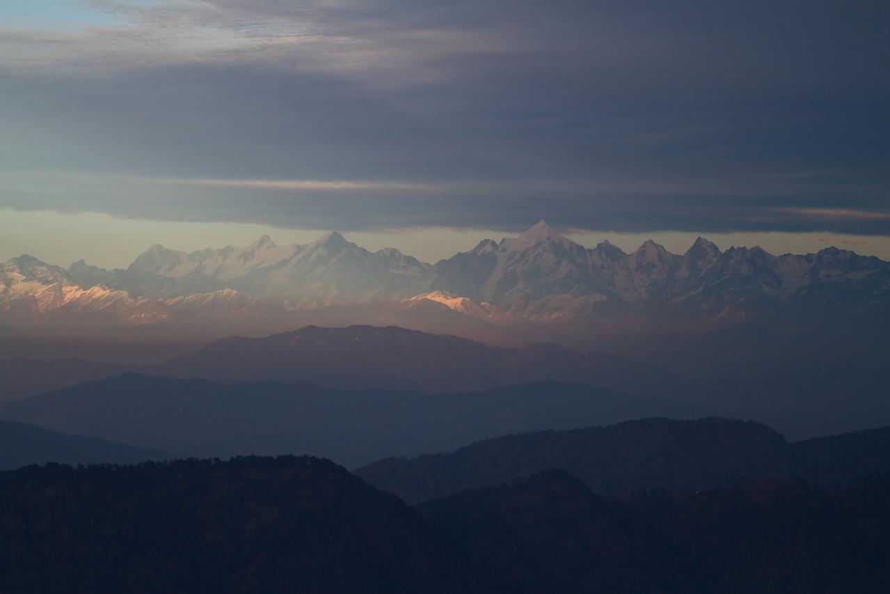 himalayan mountain range from vinayak