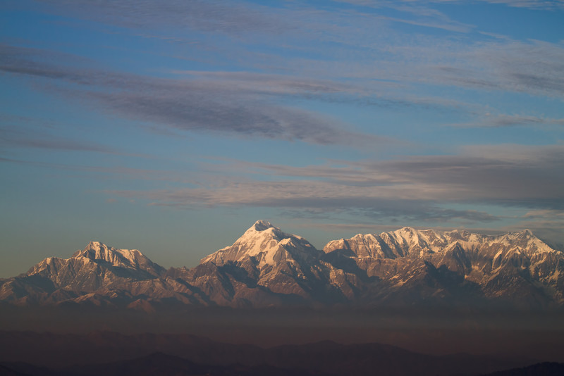 himalayan mountain range from vinayak