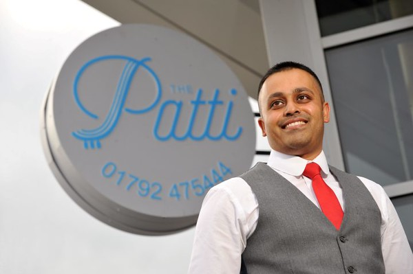 SWANSEA LIFE / <br /> Wednesday 25th May 2016<br /> Patti Pavillion reopening and new menu...<br /> Owner Aklis Shah