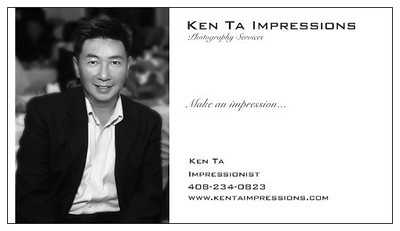 (408) 234-0823 - Facebook.com/KenTaImpressions or KenTaImpressions@Yahoo.com
