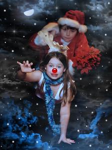Santa and his Raindeer