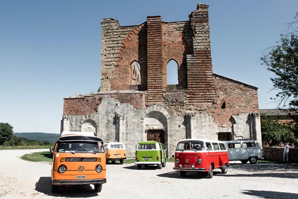 Volkswagen Westphalia at San Galgano Abbey