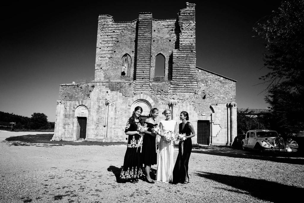 stone facade san galgano abbey
