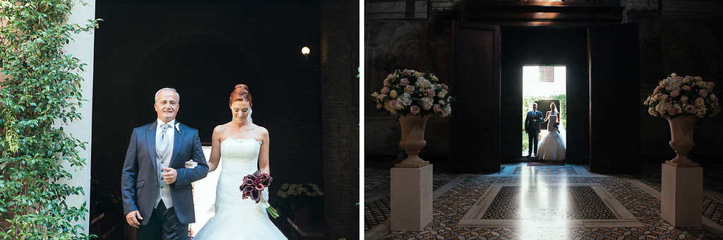 bride entrance at Santa Prassede church