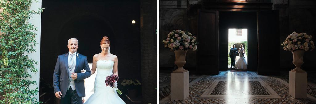 bride entrance at Santa Prassede church
