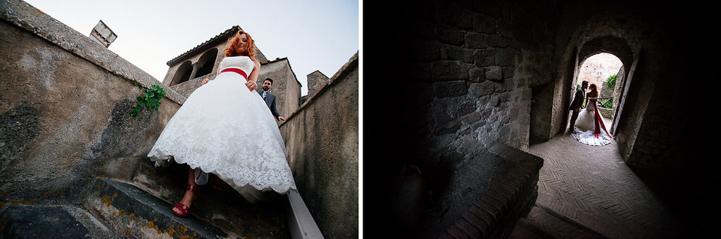bride wearing Casadei shoes