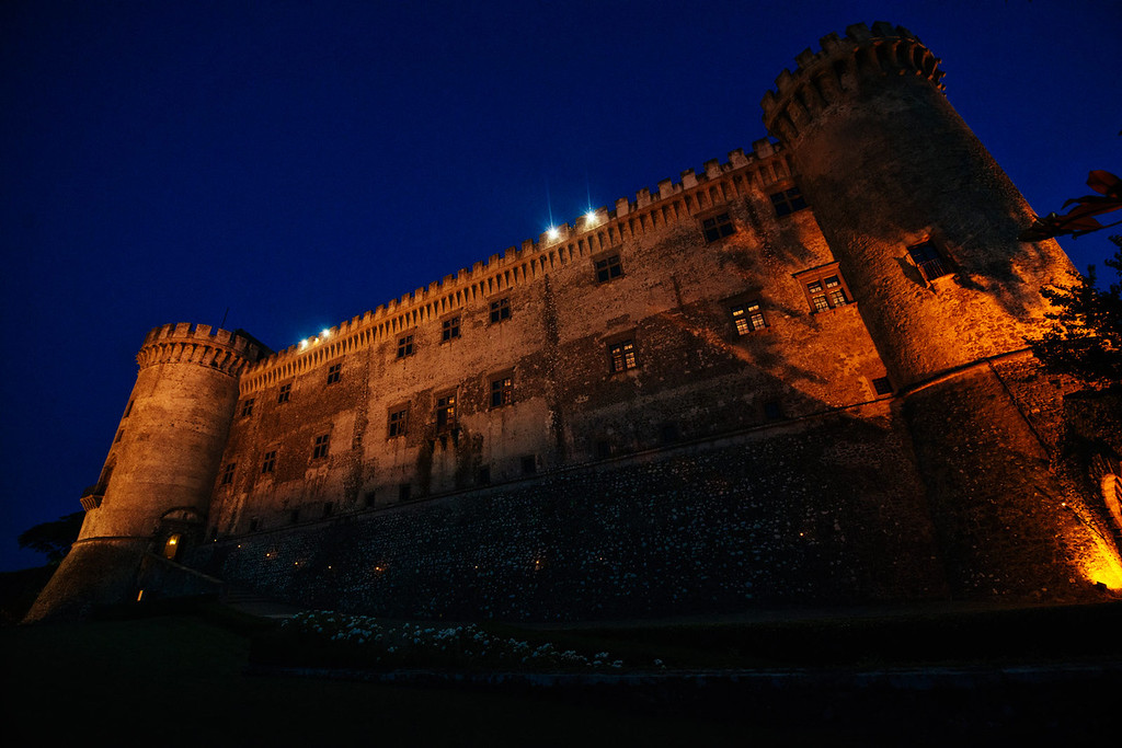 panoramic photo of Castello Odescalchi at dusk