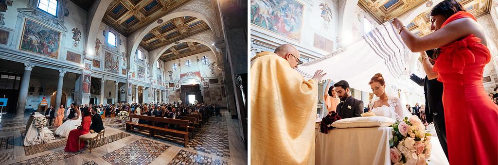 ceremony at Santa Prassede close Basilica Santa Maria Maggiore