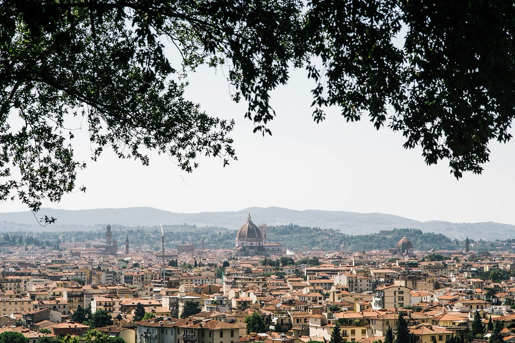 Florence backdrop captured from Villa Fontallerta