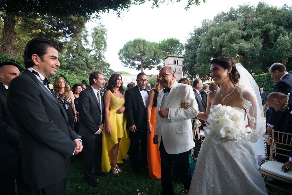 Civil ceremony at secret garden in Villa Aurelia