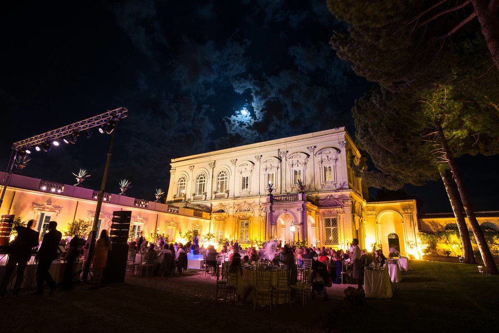 Reception in the lemon garden of Villa Aurelia
