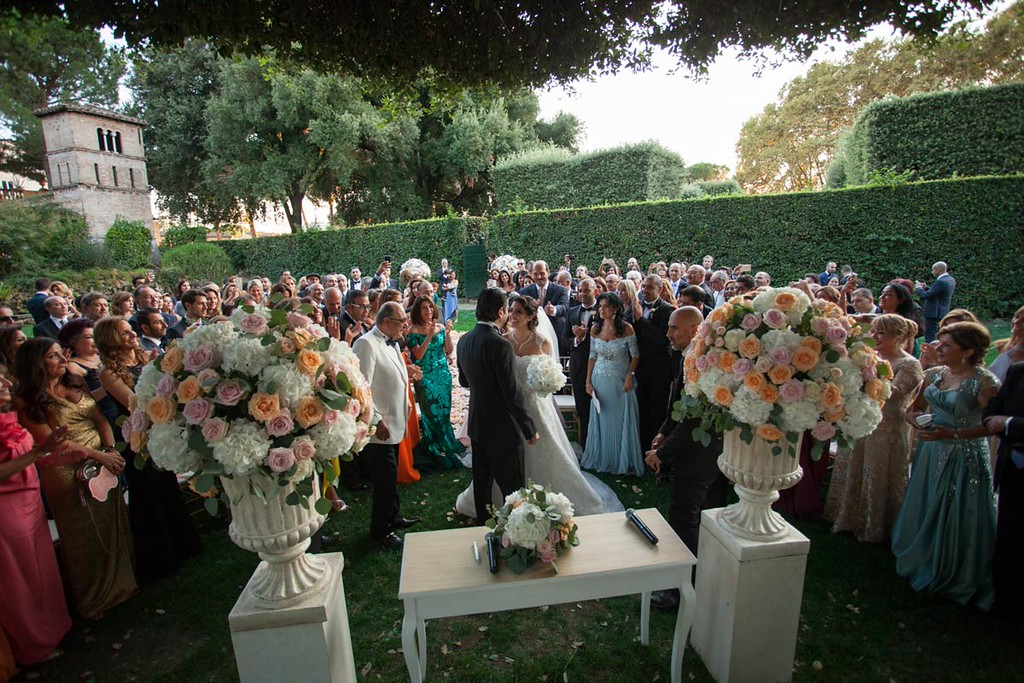 The Secret Garden of Villa Aurelia has coordinators who welcome the almost 200 guests