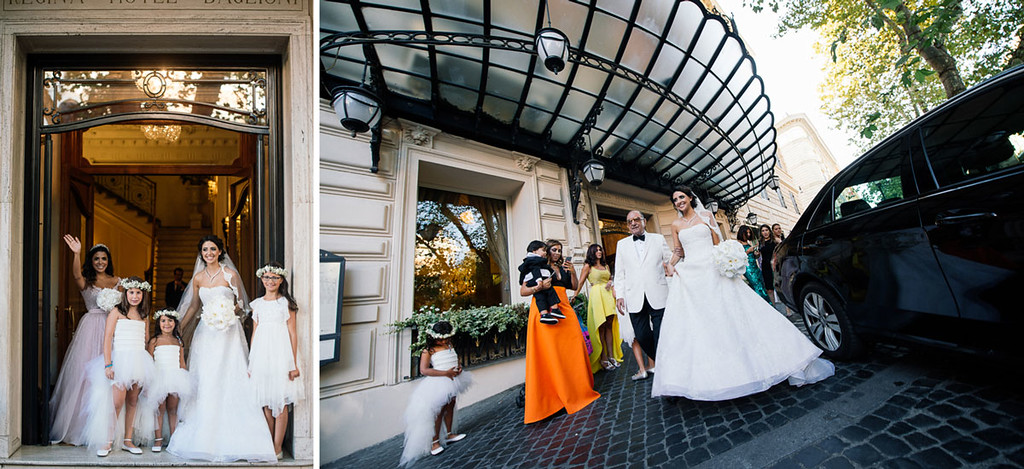 From Hotel Regina, the stunning beauty of the ceremony was extended to the nearby secret garden of Villa Aurelia