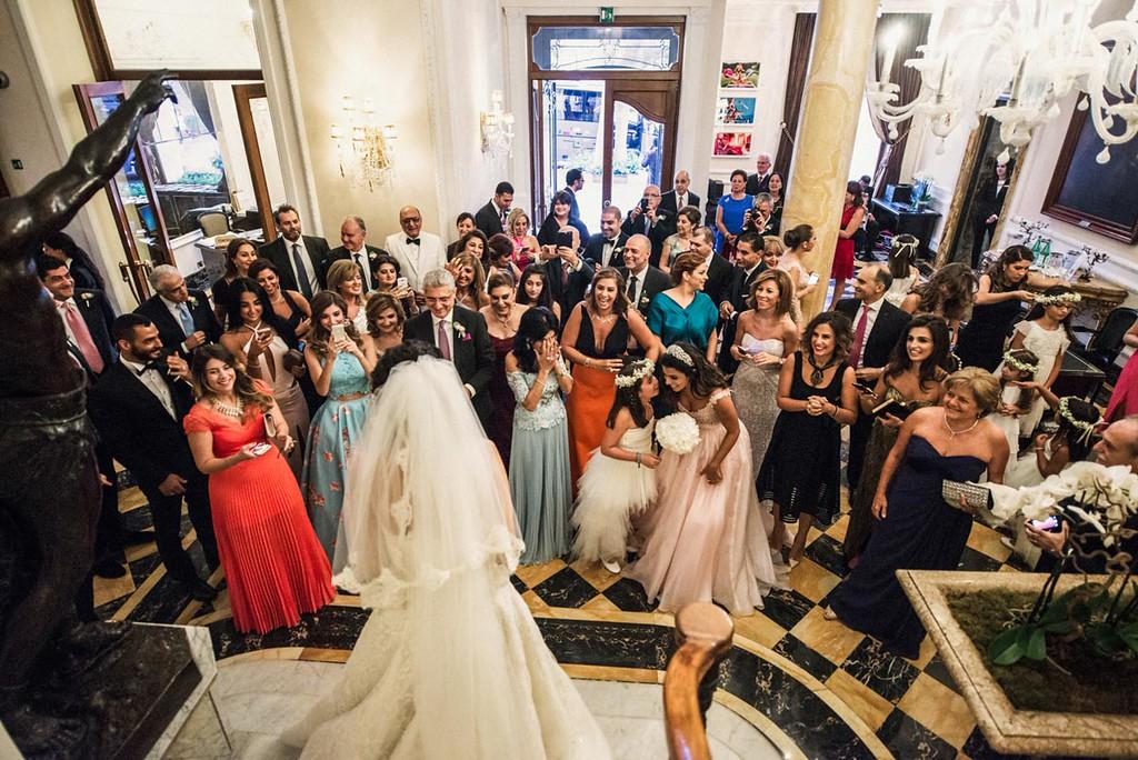 Lebanese guests at Regina Baglioni Hotel