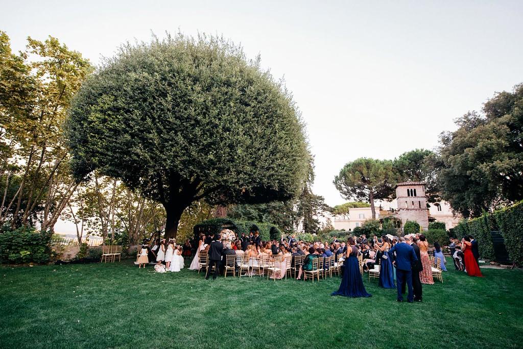 Panoramic view of Secret Garden Villa Aurelia, exclusive venue in Rome