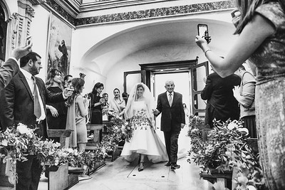 civil ceremony took place in San Francesco Church