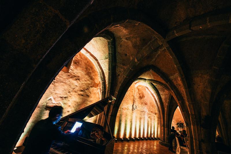 Dinner in the Cripta Villa Cimbrone