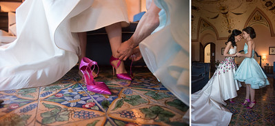 fuchsia wedding shoes by spanish fashion designer Mr. Manolo Blahnik