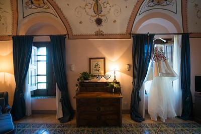 stunning floral Asymmetrical Length Wedding Dress designed by Zeina Kash