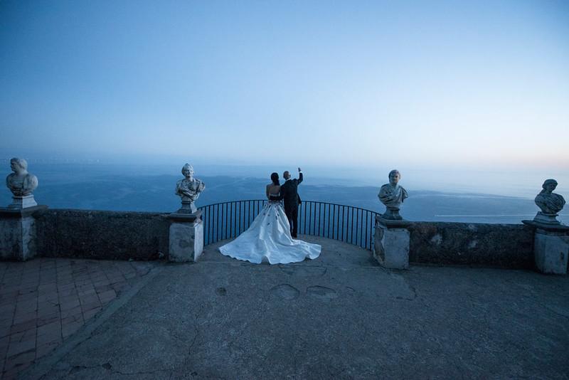 Villa Cimbrone the exlusive wedding venue overlooking the Amalfi Coast