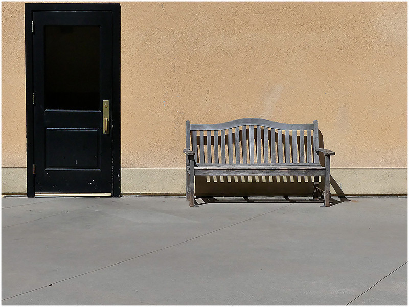 Assignment: Shoot something you wouldn't normally shoot - Door and Bench