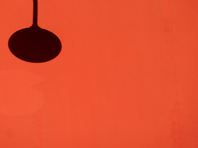 Space Study - Orange Wall and Shadow