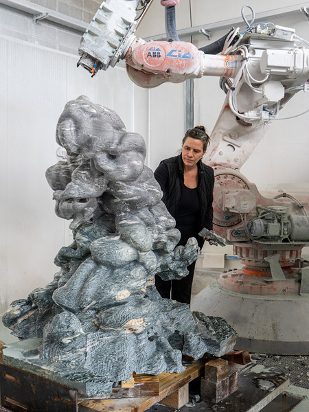 Using a robot to carve the marble was important to preserve the incredibly complex form