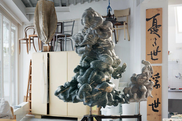 This cloud sculpture is a meditation on weight and weightlessness