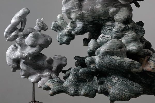 Marble captures the fluid nature of clouds in a frozen solid state