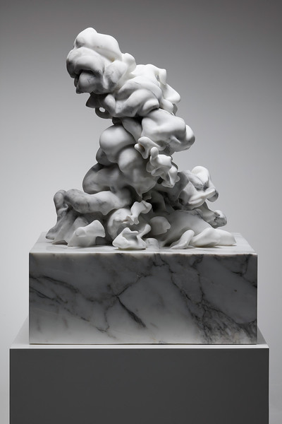 This sculpture of a cloud in classical white statuary marble evokes thoughts of civilizations past.