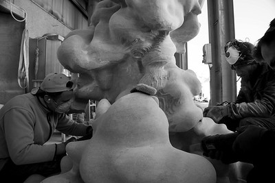 Cumulus — Cloud sculpture — Hand carving