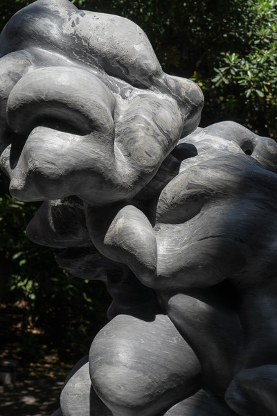 Detail of Cumulus, a monumental sculpture of a cloud in marble by Karen LaMonte.