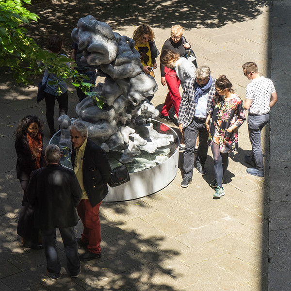 Art lovers at the Venice Biennale were fascinated by LaMonte's monumental sculpture of a cloud in marble