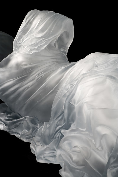 Detail of contemporary artwork of a reclining female figure subverts the male gaze