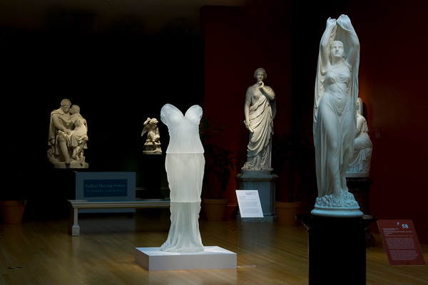 Contemporary artwork with neo-classical sculptures at the Chrysler Museum – Karen LaMonte Contemporary Amongst the Classics