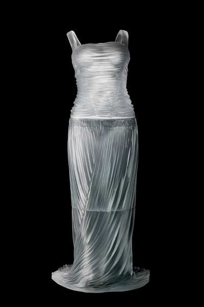 Deco Dress is a sculpture with the impression of an absent body inside.