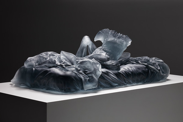 This sculpture of a reclining figure challenges traditional portrayals of the female body in art