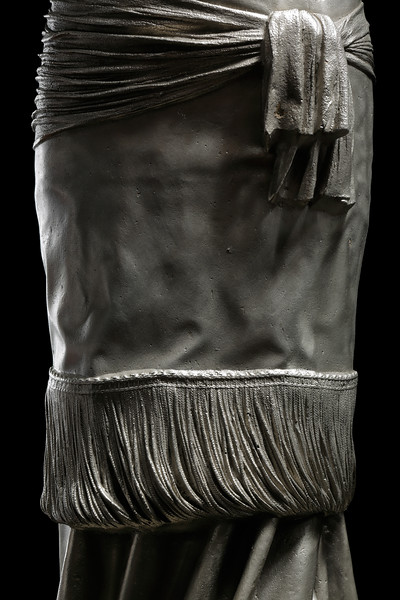 Detail of dress drapery from a sculpture in white bronze contemporary artist Karen LaMonte. ⅓ scale