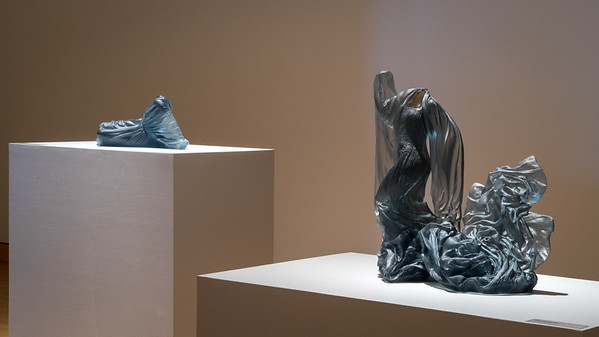 Installation of sculptures during Embodied Beauty at the Hunter Museum of Art, by contemporary artist Karen LaMonte