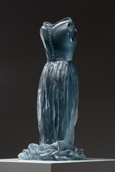 Art and fashion examined in a sculpture of a dress and female figure
