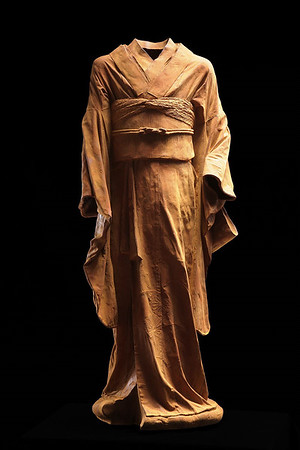 """Young Bijin is contemporary artwork of a kimono which uses rusted iron to investigate beauty and time. 46"""" x 19"""" x 18"""""""