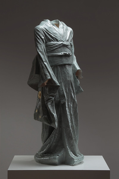 "Young Bijin is an artwork which asks questions about perceptions of beauty  Ceramic 42"" x 17"" x 16"""